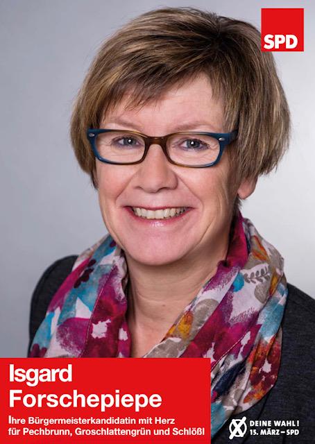 Bürgermeisterkandidatin Isgard Forschepiepe